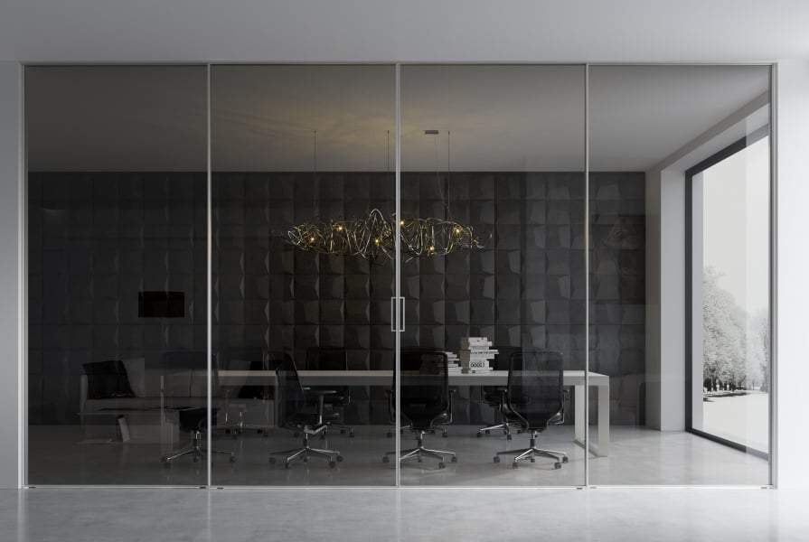 Office sliding room divider