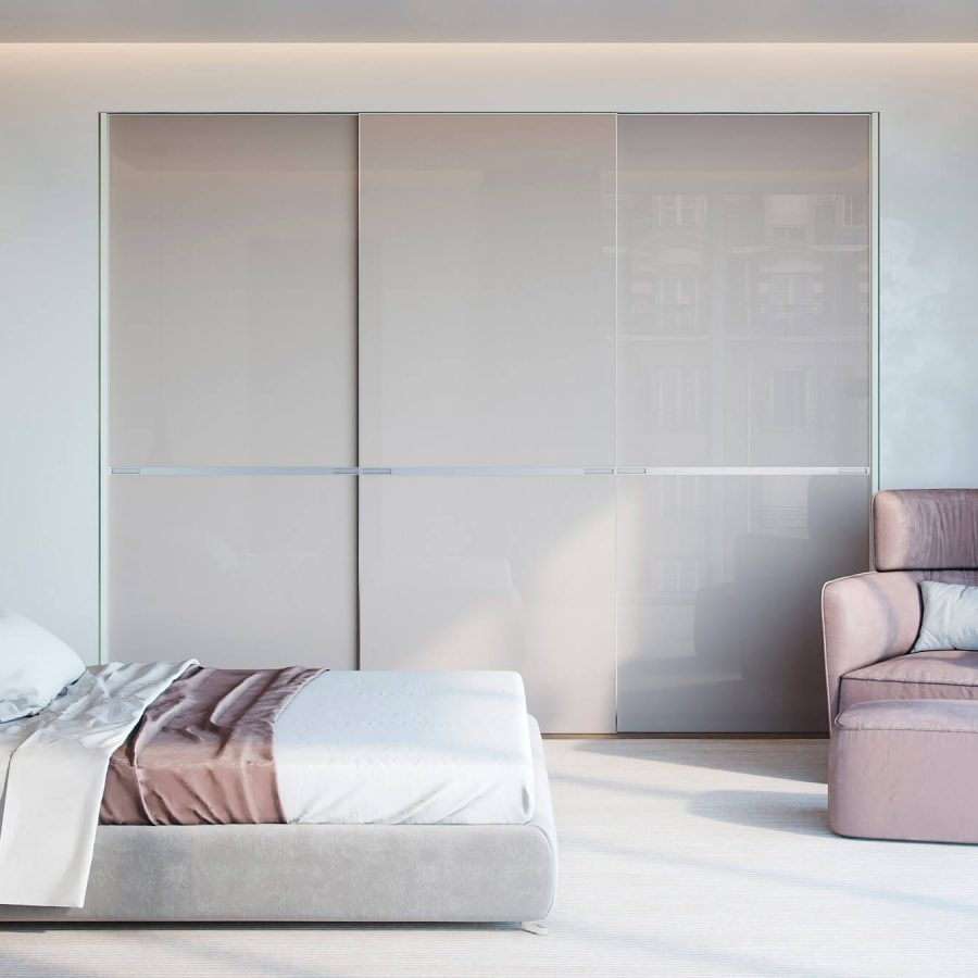 contemporary fitted sliding wardrobe