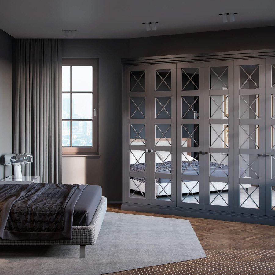 luxury hinged door wardrobe