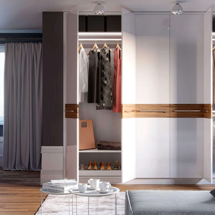 linear Range Fitted Hinged Wardrobe